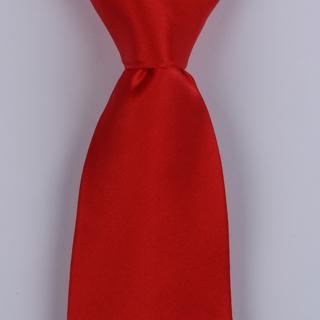 Red Silk satin Tie-0