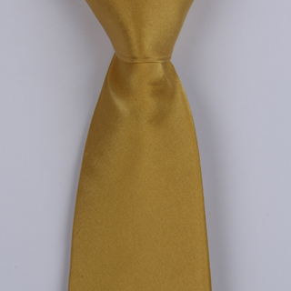 Yellow silk satin Tie