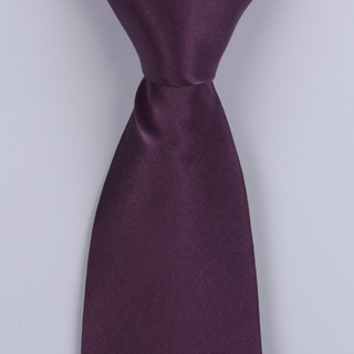 Plum Silk satin Tie-0