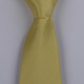 Yellow Silk satin Tie-0