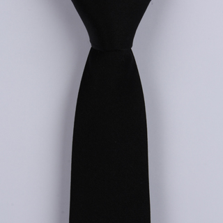 Black Skinny Silk Satin Tie