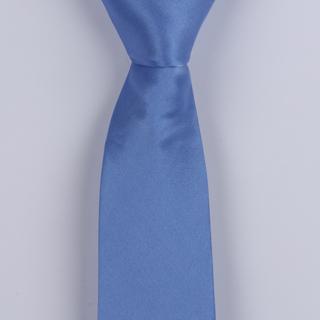 Sky Blue Skinny Silk satin Tie-0