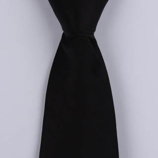 Black Silk satin Tie-0