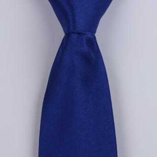 Blue Silk Satin Tie-0