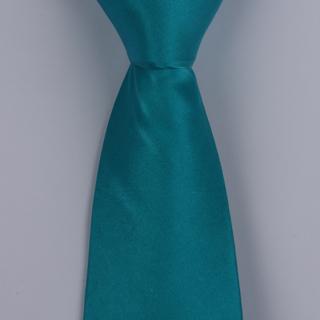 Turquoise Silk satin Tie-0