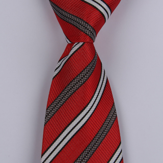 Red/Black/White XL Woven Poly Tie