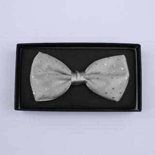 Grey Sparkly Silk / Lurex Bow Tie