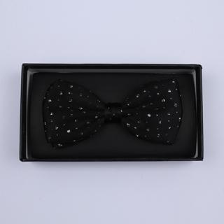 Black Sparkly Silk / Lurex Bow Tie