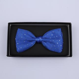 Blue Sparkly Silk / Lurex Bow Tie-0