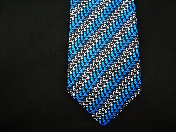 Finance silk tie -0