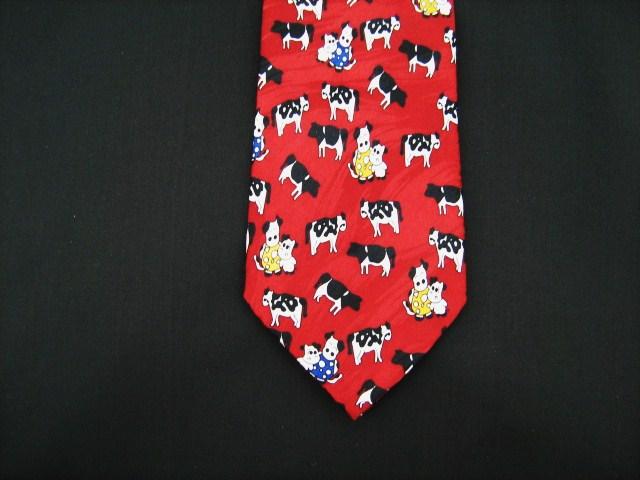 Farmers Silk Tie Cows Design