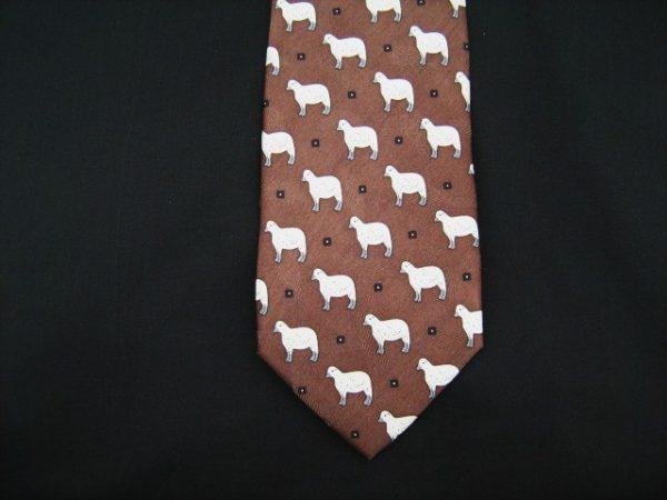 white sheep silk tie -0
