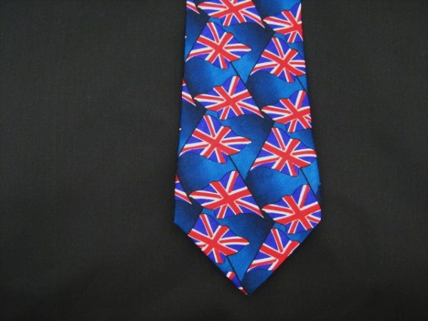 Union Jack silk tie-0