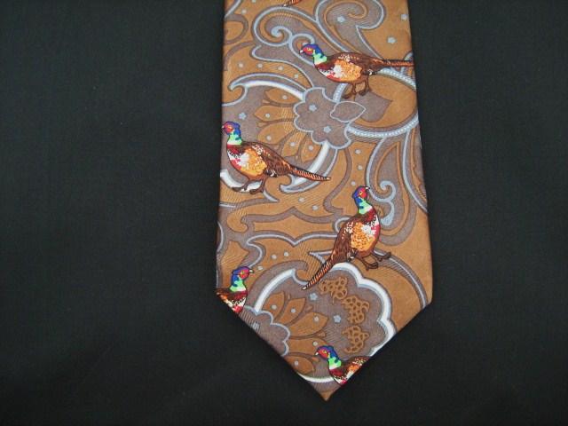 Paisley design Pheasant silk tie