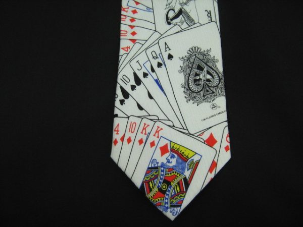 playing cards silk tie-0