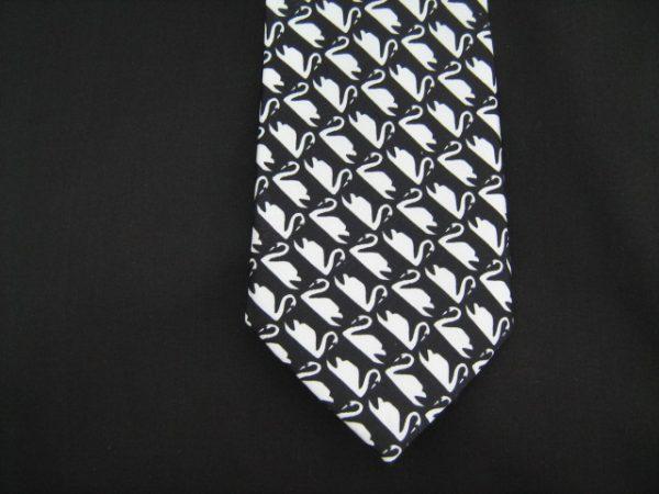 white swans silk tie-0