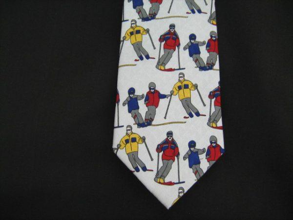 skiing silk tie-0