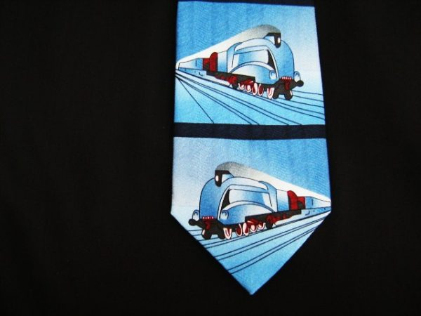 Mallard steam train silk tie-0