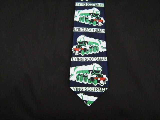 Flying scotsman steam train silk tie