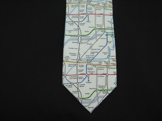 london underground map silk tie