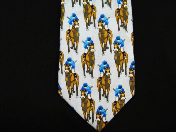 horse racing silk tie-0