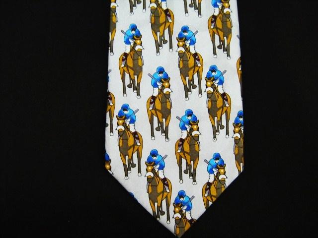 horse racing silk tie