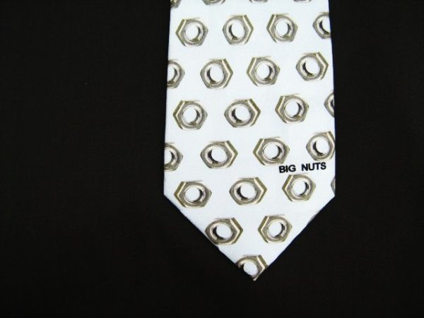 Novelty Big Nuts Silk Tie-0