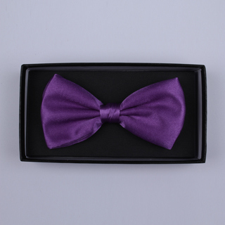 Plain Purple Bow Tie-0
