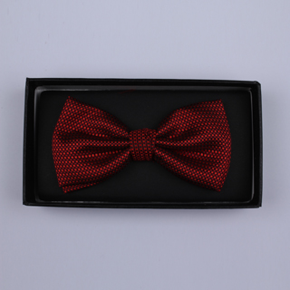 Red Patterned Bow Tie-0