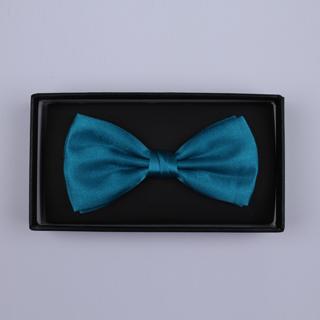 Plain Blue Bow Tie-0