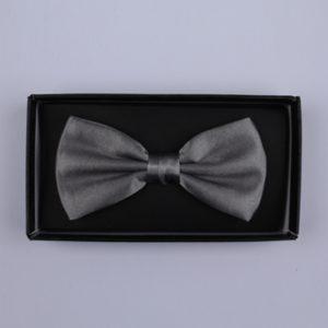 Plain Grey Bow Tie-0