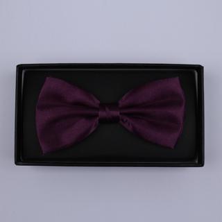 Plain Plum Bow Tie-0