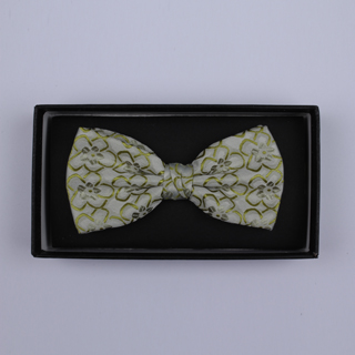 Pale Green Floral Bow Tie-0