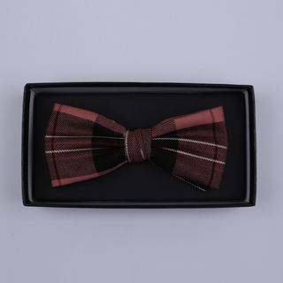 Brown/Pink Tartan Bow Tie