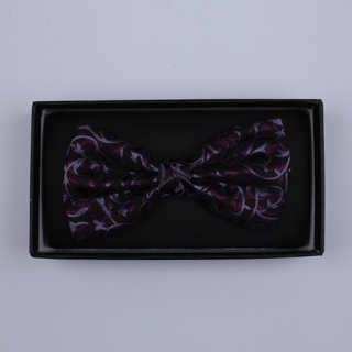 Purple/Lilac/black Floral Bow Tie