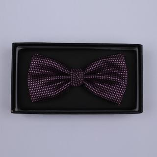 Purple micro grid Bow Tie-0