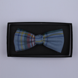 Blue/yellow/red tartan Bow Tie-0