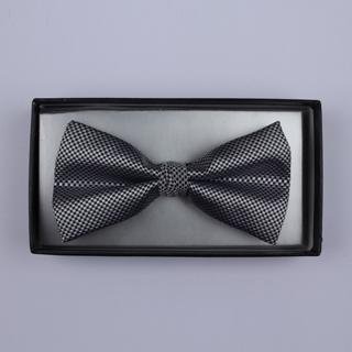 Silver micro grid Bow Tie