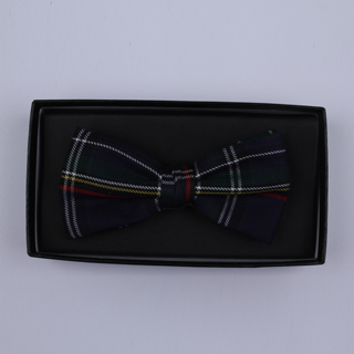 Dark Navy/Multi Tartan Bow Tie-0