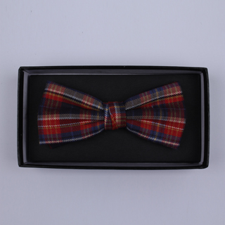 Red/Blue Tartan Bow Tie-0