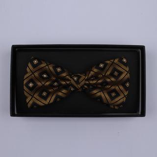 Black/Bronze diamonds Bow Tie-0