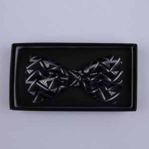Black/Silver Arrow Bow Tie-0