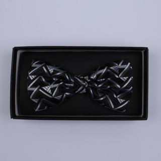 Black/Silver Arrow Bow Tie-0