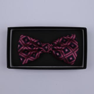 Black/Wine diamonds Bow Tie-0