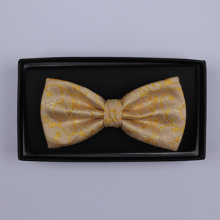 Peach/Yellow Floral Bow Tie