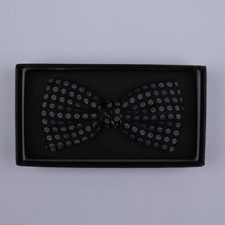 Black/white Circles Bow Tie