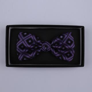 Black/Purple Squares Bow Tie-0