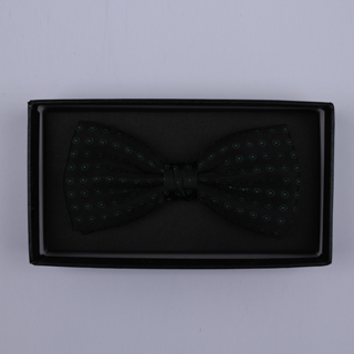 Black/Black Squares Bow Tie-0