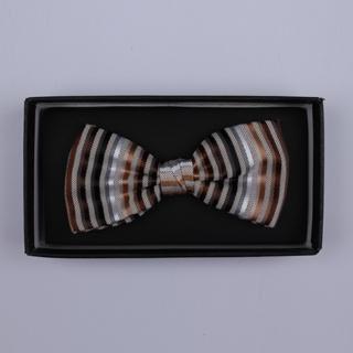 Brown/Multi Stripes Bow Tie-0