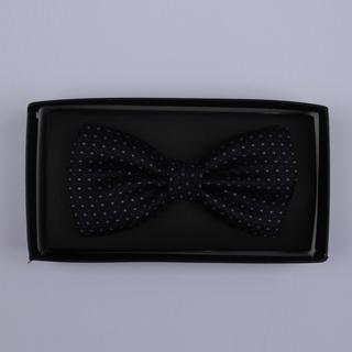 Black/lilac micro print Bow Tie-0
